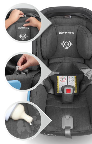 Adjustable Headrest With Side Impact Protection Mesa Activebaby