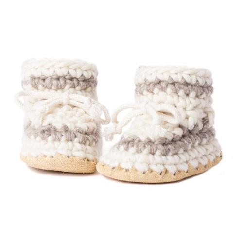 wool and sheepskin slippers for infants and todlers - Padraig Cottage Baby Slippers - Active Baby